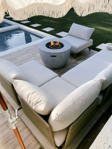 Our outdoor sectional is temporarily on sale…. So comfortable with deep cushions //   #LTKsalealert #LTKhome