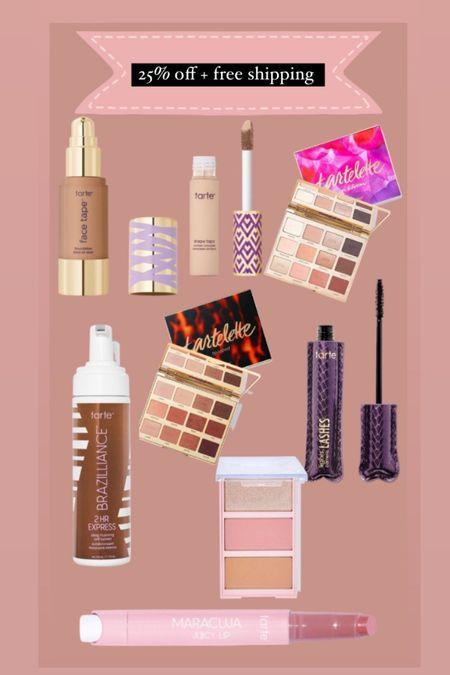 Tarte makeup 25% off + free shipping   #LTKSale #LTKbeauty #LTKsalealert