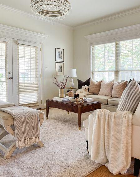 Fall decor. Living room decor. Living room design. Mid-century boho modern living room.   #LTKSeasonal #LTKhome