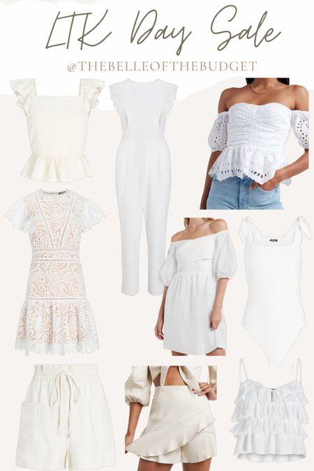#LTKday sale - summer whites, bride white dress, white top.   #LTKsalealert #LTKwedding #LTKunder100