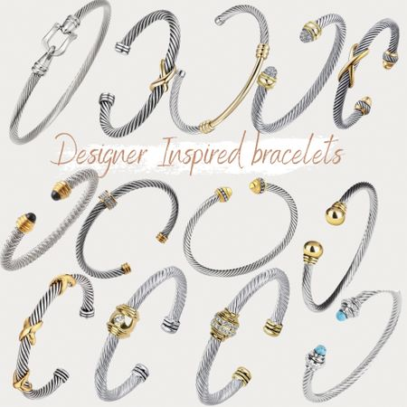 http://liketk.it/3hg2g #liketkit @liketoknow.it #LTKunder50 #LTKstyletip amazon, found it on Amazon, bracelets, designer inspired bracelets, affordable bracelets, twisted cuff, cuff bracelet, bangle, gold bracelet, silver bracelet, two tone bracelet, pearl bracelet, gifts for her, stainless steel, marble bracelet