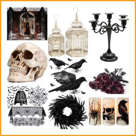 Edgar Allen Poe inspired Halloween Decorations 💀    #LTKhome #LTKSeasonal #LTKHoliday