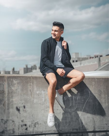 """I'm no fitness content creator. I have no idea how to eat """"well"""" or how to work out. I'd try diets or look up fitness videos and just try my best. I was fine but I never really got the results I wanted.   I knew I wanted to change but I literally need someone to tell me what to do haha. I don't have time research and I understand everyone's body is different so what I see what's online might not work for me. What can I do and still eat rice 😂  If you are wondering what I've been doing here is my routine:  I've been using @metproco as my nutrition, fitness and lifestyle coaching app. This has been the thing I needed that literally tells me what to do. I deadass just need someone to think for me 😂 There's even plans that include an actual human coach to talk to and guide you through the process. What I can eat and the portions are all done for me based on my needs. And I can still have rice (within reason 😭😂) Shoutout to Coach Shannon!  @onepeloton has been my workout of choice recently. Just been absorbing @codyrigsby content to get my day started.   Would y'all wanna learn more about my fitness journey? This has been a personal thing and I know that talking about stuff like this can be very subjective. At the end of the day I just want to bring you value.   Give me…  A. More fitness! B. More nutrition! C. More rice! D. Just more suits tho  Black jacket, black gym shorts, white shirt by @jockey   Sneakers by @koio   Photography by @talukdude http://liketk.it/3eqv3 #liketkit @liketoknow.it #LTKmens #LTKunder50 #LTKfit"""