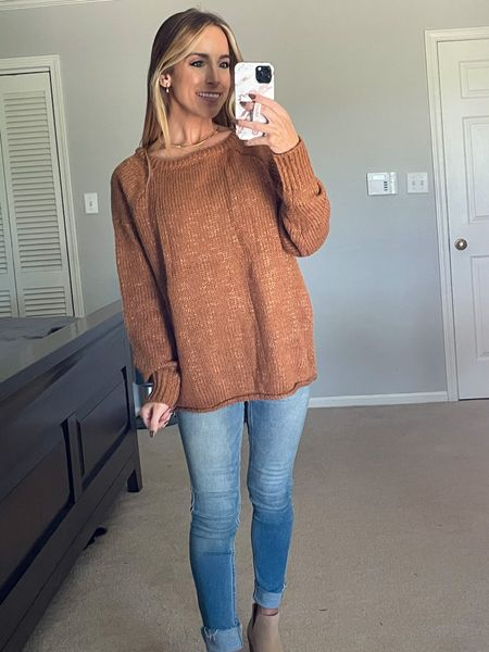 Amazon Sweater  Wearing a small! Comes in other colors  #amazon #founditonamazon #amazonfinds #sweater #sweaterweather #fall #fallstyle #affordablestyle  Follow my shop on the @shop.LTK app to shop this post and get my exclusive app-only content!    #LTKstyletip #LTKunder50 #LTKSeasonal