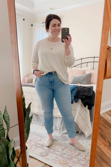 My favorite Abercrombie jeans are the curve loves in vintage denim.  They are SO comfy!  #LTKfit #LTKSale