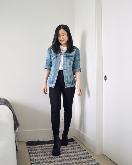 Denim jacket is out for spring! Wearing a men's small. http://liketk.it/3eMRp #liketkit @liketoknow.it