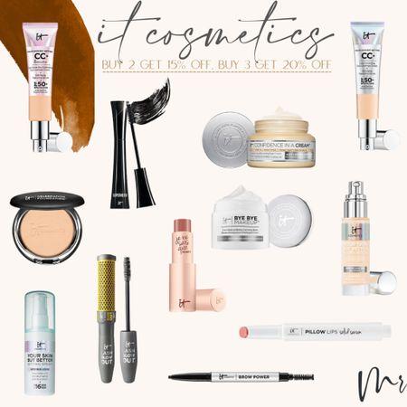 It cosmetics buy 2 get 15% off, buy 3 get 20% off #itcosmetics #beautydeals #cccream  #LTKunder50 #LTKsalealert #LTKbeauty