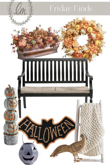 My Friday Finds this week also happen to be great fall and Halloween porch decor!  #LTKSeasonal #LTKHoliday #LTKhome