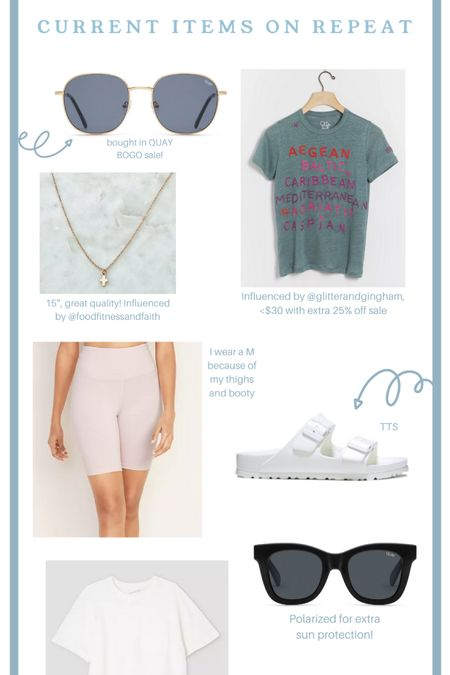 Current Items on Repeat @target @anthropologie @etsy @birkenstock @quay #LTKbeauty #LTKfamily #LTKstyletip @liketoknow.it.home @liketoknow.it.family  You can instantly shop my looks by following me on the LIKEtoKNOW.it shopping app  http://liketk.it/2WJLr #liketkit @liketoknow.it