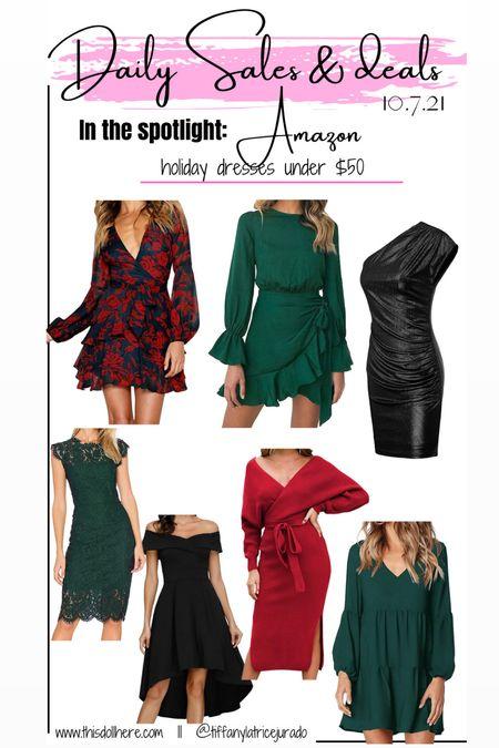 Amazon holiday dresses, holiday, dresses  #LTKstyletip #LTKunder50 #LTKHoliday