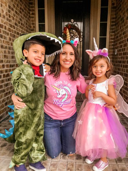 Halloween costumes made for all the boys and girls.  Pottery Barn Dinosaur 🦖 costume was a hit and such good quality.  Pottery Barn unicorn costume was a huge favorite!! We got so many compliments!!  Sizes are going fast!!   #LTKHoliday #LTKkids #LTKfamily