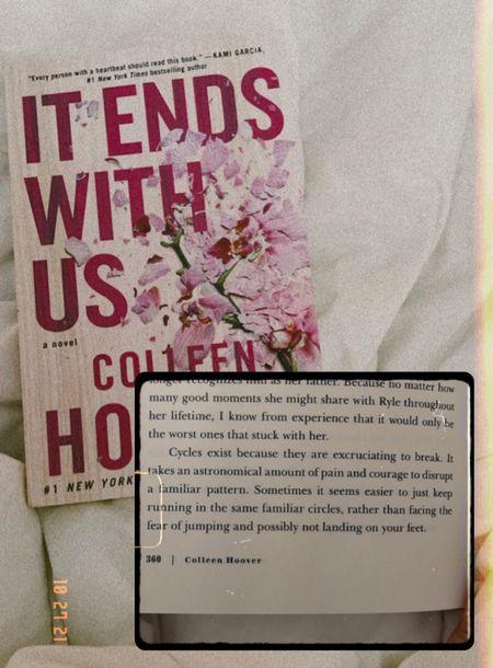 Amazing fiction novel. It ends with us by Colleen Hoover Under $10   #LTKtravel #LTKSeasonal #LTKGiftGuide