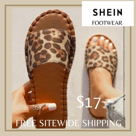 Leopard print slide sandals from Shein and free sitewide shipping today   http://liketk.it/3hZcY #liketkit @liketoknow.it #LTKunder50 #LTKshoecrush #LTKstyletip You can instantly shop my looks by following me on the LIKEtoKNOW.it shopping app