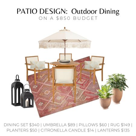 We have multiple outdoor spaces to furnish this Spring and that means we're on a budget!  I'm honestly surprised we were able to design such a beautiful, quality space all for under $850!  🙌🏼🙌🏼   #outdoordecor #patiodecor #outdoordining #bohopatiodecor   #LTKhome #LTKSeasonal #LTKunder100