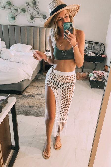 Ready for the beach!! Love this crochet coverup paired with this olive green bikini! My bikini top is under $20, too!   http://liketk.it/2DxoM #liketkit @liketoknow.it #LTKswim #LTKtravel #LTKunder100 #LTKunder50 #LTKstyletip