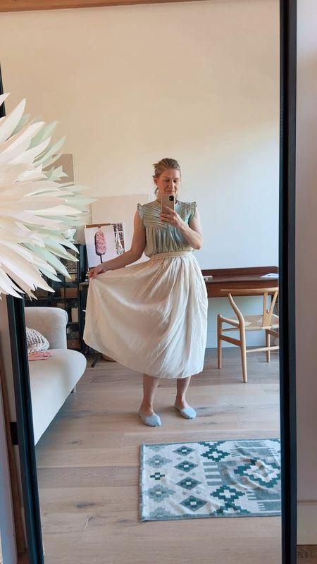 Feeling all summery  in my midi skirt & top  #LTKeurope #LTKstyletip #LTKunder50