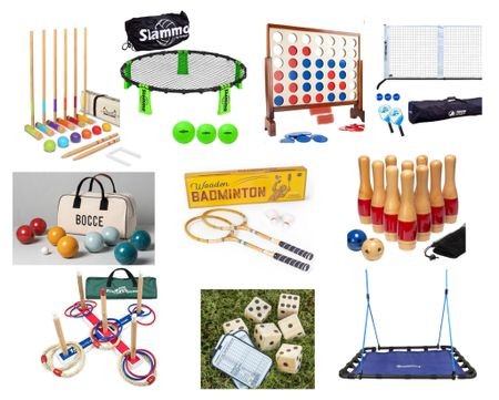 OUTDOOR TOYS to get the kids (and the adults) outside! Lawn bowling, croquette, giant Yahtzee and more!  #LTKkids #LTKfamily #LTKhome