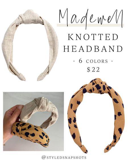 Madewell knotted headband // 6 colors, $22 // Hair Accessories #LTKunder50 #LTKstyletip #LTKbeauty #liketkit @liketoknow.it http://liketk.it/3ih34