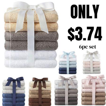 Washcloths only $3.74 per pack! Great for bathroom decor. Such an affordable price! http://liketk.it/3gplK #liketkit @liketoknow.it #LTKunder50 #LTKsalealert #LTKunder100