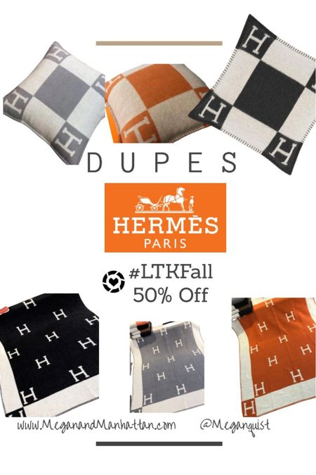 Ends at midnight 50% off!! This Hermès blanket looks JUST like the original and $33 is a steal! #LTKFall with the styled collection   #StayHomeWithLTK #LTKsalealert #LTKhome