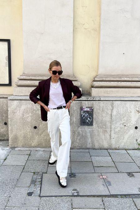 The white pant #white #whitepant #oversizedblazer #blazer #annaborisovna#arket #arketshoes #sandals #newsandals #bottegavenetasunglasses #sunglasses   #LTKunder50 #LTKshoecrush #LTKunder100