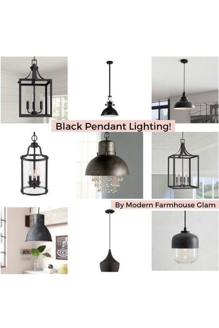 Black pendant lighting, kitchen lights, lantern lighting, hallway lighting fixtures, Pottery Barn, Wayfair, home Decour, furniture.   #LTKsalealert #LTKhome