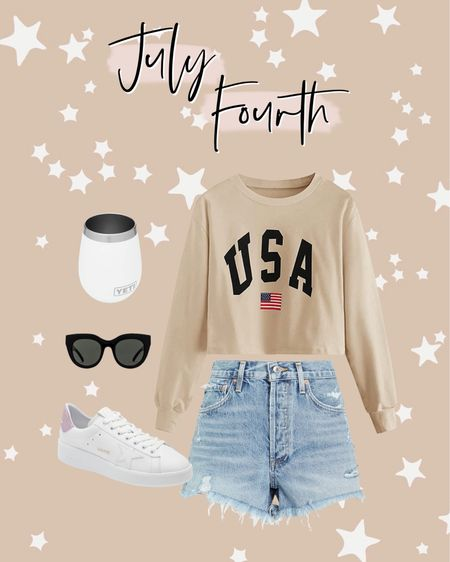 July Fourth outfit ideas! http://liketk.it/3igNw #liketkit @liketoknow.it #LTKunder50 #LTKunder100 #LTKshoecrush Amazon find, Fourth of July, July 4th, USA