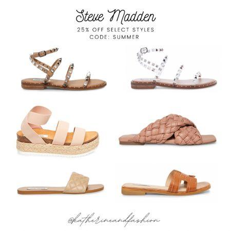 Steve Madden- 25% off select styles with code: SUMMER. Lots of studded sandals, slides, and wedges!    #LTKSeasonal #LTKshoecrush #LTKsalealert