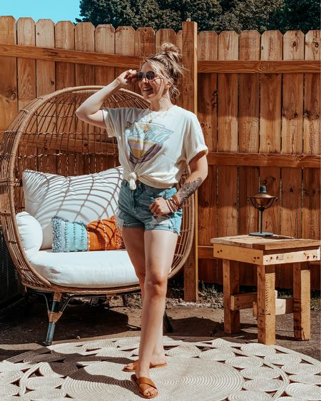 Boxy Tee's & Mom Shorts from American Eagle are one way I'm going to stay casual this summer. Boyfriend tee's are so trendy right now, and I love that there are so many different ways to style them!  You can instantly shop my looks by following me on the LIKEtoKNOW.it shopping app✌🏻✨   #liketkit @liketoknow.it http://liketk.it/2Qe6m #LTKunder100 #LTKunder50 #LTKhome