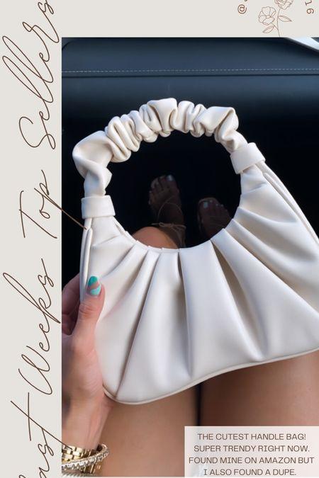 Last weeks top sellers Handle bag from amazon Linking this bag & a dupe   #LTKunder50 #LTKsalealert #LTKstyletip