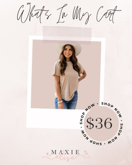 What's In My Cart - The Perfect Casual Tee For Going Into Fall 🍂  #whatsinmycart #casualtee #pinklily #pinklilyboutique #layeringtee #summeroutfits #summertofall  #LTKSeasonal #LTKunder50 #LTKstyletip