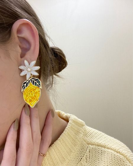 @liketoknow.it http://liketk.it/3dgxr #liketkit #LTKsalealert #LTKunder50 #LTKstyletip Yellow for spring!! Both sweater and earrings are target!💛