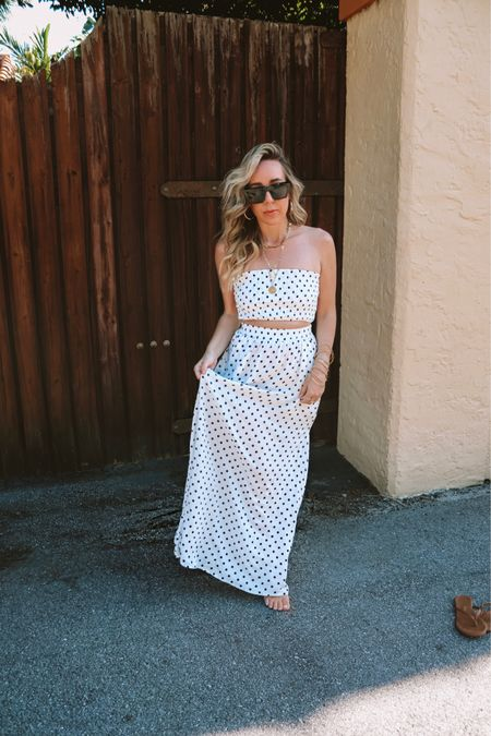Sunday steal! How cute is this polka dot skirt set from Amazon under $40! Such a cute summer look!   http://liketk.it/3eomG @liketoknow.it #liketkit #LTKunder50 #LTKstyletip #LTKbeauty