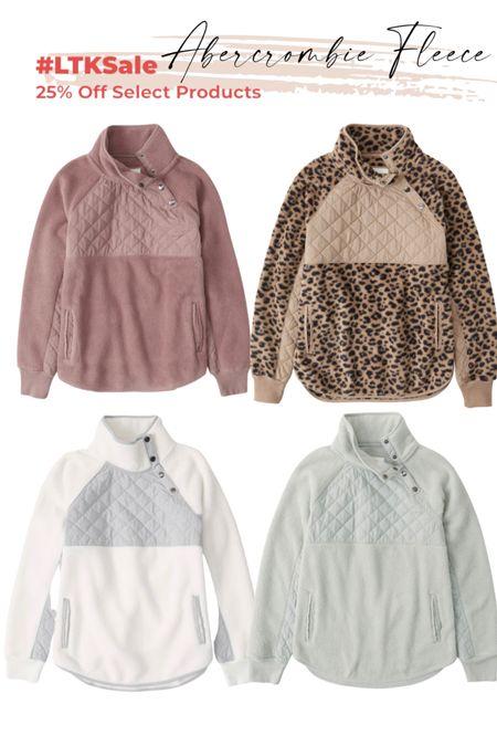 Abercrombie style Snap fleece pullover   #LTKSeasonal #LTKGiftGuide #LTKsalealert
