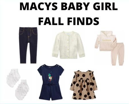 Macys baby girl fall wardrobe finds! #baby #babygirl #fall    #LTKbaby #LTKkids #LTKfamily