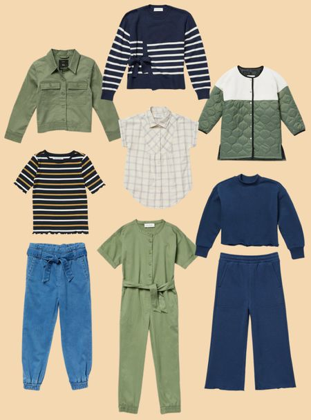 Free Assembly kids, girls fall outfit, mix and match, utility jacket, romper, sweatshirt, sweatpants, jogger jeans, quilted jacket, sweater, #walmartfashion     #LTKunder50 #LTKfamily #LTKkids