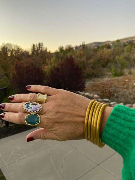 Little hand and arm candy!  Great gift ideas 🎁 Two rings  ( sorry, the gold one is real gold and old from Cartier)  . .   #LTKstyletip #LTKGiftGuide #LTKHoliday