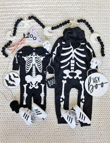 H A L L O W E E N \ Baby & toddler skeleton onesies💀💀  #halloween #halloweendecor #kidshalloweencostume #costume #halloweencostume   #LTKHoliday #LTKbaby #LTKkids