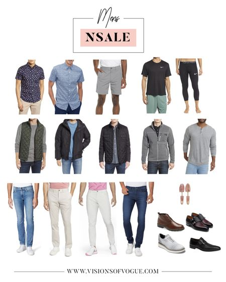 Matt's picks for men from the Nordstrom Anniversary Sale (NSALE)!  The Cole Hazan shoes are the GOAT for work! He also loves this fit of the Paige denim, his favorite short sleeve button down shirts, and quilted jacket by Barbor!   #LTKsalealert #LTKunder100 #LTKmens