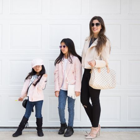 Because when you have daughters, fashion becomes even more fun. Sure, I didn't get to grow up with a sister but that makes me celebrate my daughters even more. Anyone else's daughters feel extra special when mom makes an effort to match them? Mommy and me outfits!  ✨✨ Leave a comment with one thing you LOVE about having a daughter. I know there are many things you love, but choose the first one that comes to mind. Let's celebrate your girls! ✨✨  💖 (I've linked everything we are wearing here.)  http://liketk.it/2AYhC #liketkit @liketoknow.it #louisvuitton #bulgari #hm #kidssunglasses #valentino #hmkids #valentinorockstud #express #minime #myminime