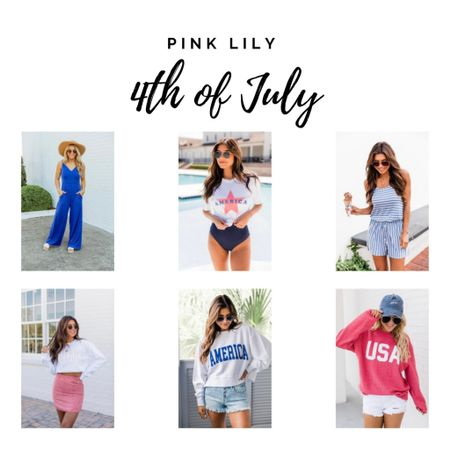 Pink Lily 4th of July, red white and blue, patriotic fashion http://liketk.it/3hfLE #liketkit @liketoknow.it #LTKunder50 #LTKtravel #LTKstyletip