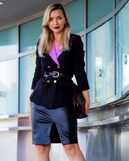 All the Versace vibes 💜💜💜 http://liketk.it/38ieI #liketkit @liketoknow.it #LTKunder50 #LTKstyletip #versace #asos #asosstyle #blazer
