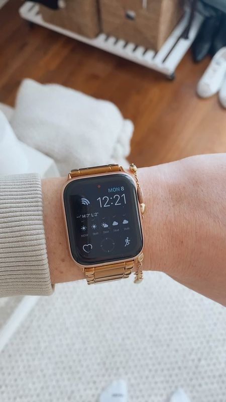 I love my Casetify rose gold Apple Watch band - I've had it for almost a year now and it's held up so well! I even wear it when working out and it hasn't lost any of its color   #LTKfit #LTKstyletip