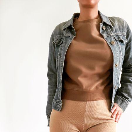 Vintage Denim Jacket & Browns 🧸 by #asos & #gap  #LTKSpringSale #LTKfit #LTKunder100