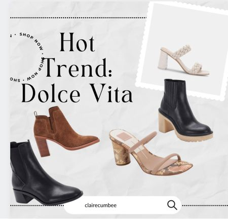 Hottest trend Dolce vita heels Sorority rush shoes College outfit Leather heels Booties Fall boots  #LTKtravel #LTKbacktoschool #LTKshoecrush