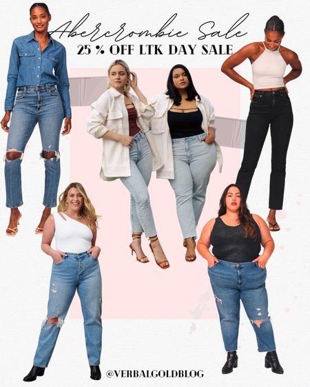 abercrombie sale - abercrombie ltk sale favorites - plus size fashion - plus size jeans - plus size fall outfits - abercrombie curve love jeans - curvy jeans - mom jeans - dad jeans - fall family photos - boyfriend jeans - plus size outfits - daily deals    #LTKcurves #LTKHoliday #LTKSale