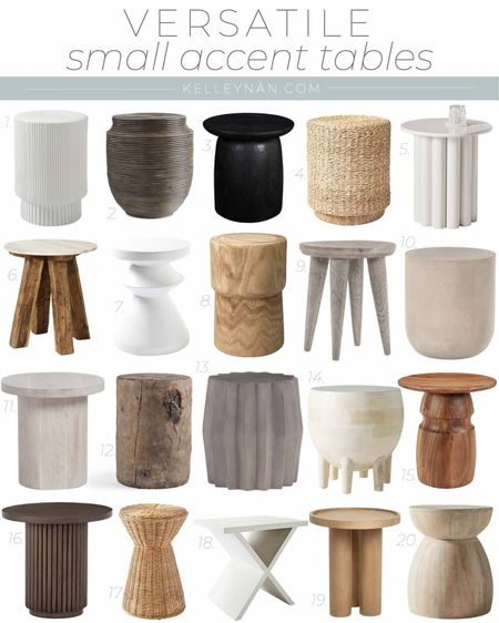 Versatile small accent tables for any room of your home! Home decor side table stool table bathroom decor sitting room decor living room decor accent table    #LTKhome #LTKstyletip