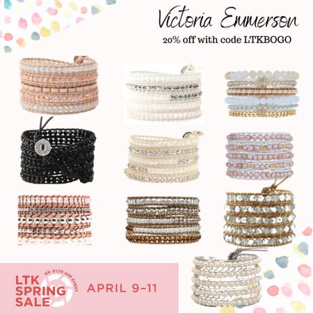 LTKI spring sale event happening now! Need some cute accessories to add to your new outfit?! Look no further.... Victoria Emerson has the sweetest freshwater pearl wrap bracelets that make any outfit look put together!   #LTKSpringSale #LTKsalealert #LTKunder50