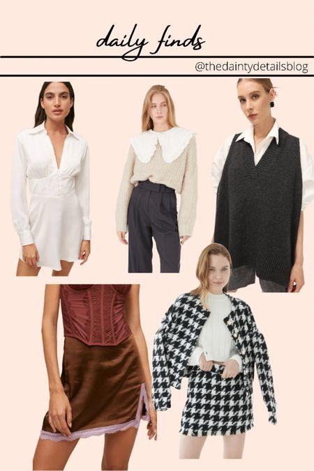 Daily finds: fall outfits, sweater vest, shirt dress, fall dresses  #LTKunder100 #LTKstyletip #LTKSeasonal