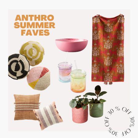 30% off summer essentials at anthro!! go shop some happy pieces ✨